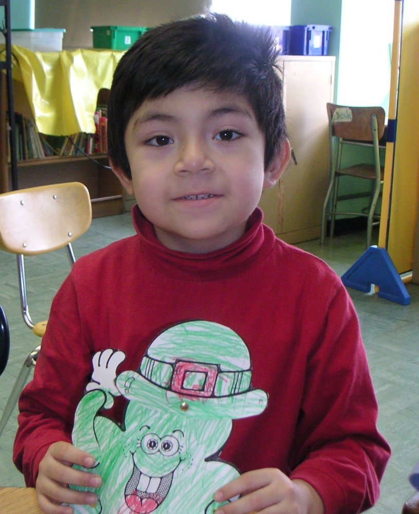 Luis Paredes, pictured here at age 5, began drawing when he was 2 years old.  (Courtesy of Tany'a Wells-Vasquez)
