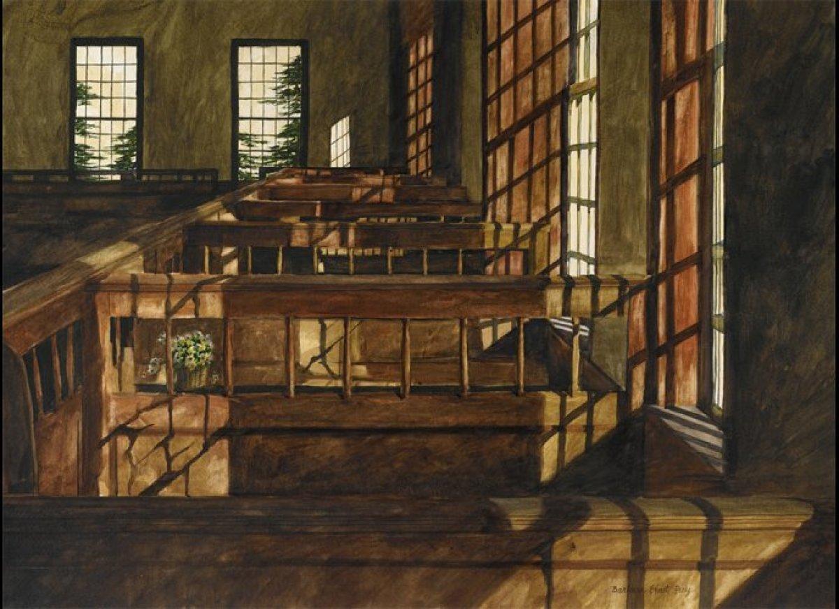 "Enter caption for this slide Watercolor,  22"" x 30"" Barbara Ernst Prey"
