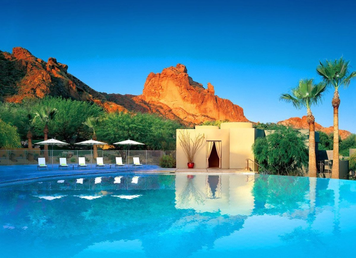 "The sleek spa casitas at the <a href=""http://www.tablethotels.com/Sanctuary-on-Camelback-Mountain-Hotel/Phoenix-Scottsdale-Ho"