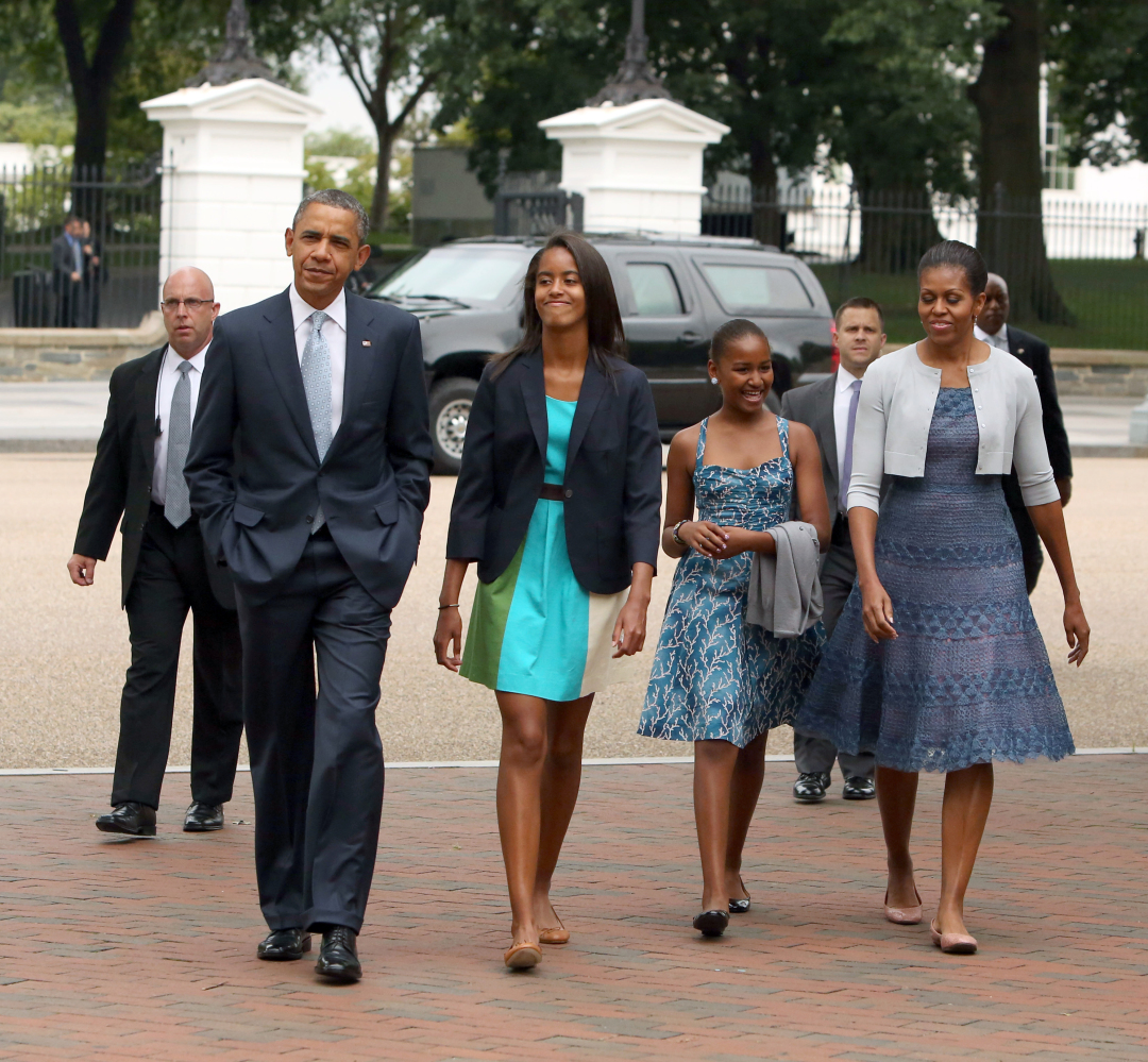Obama Family Attends Church In Matching Monochromatic Outfits PHOTOS