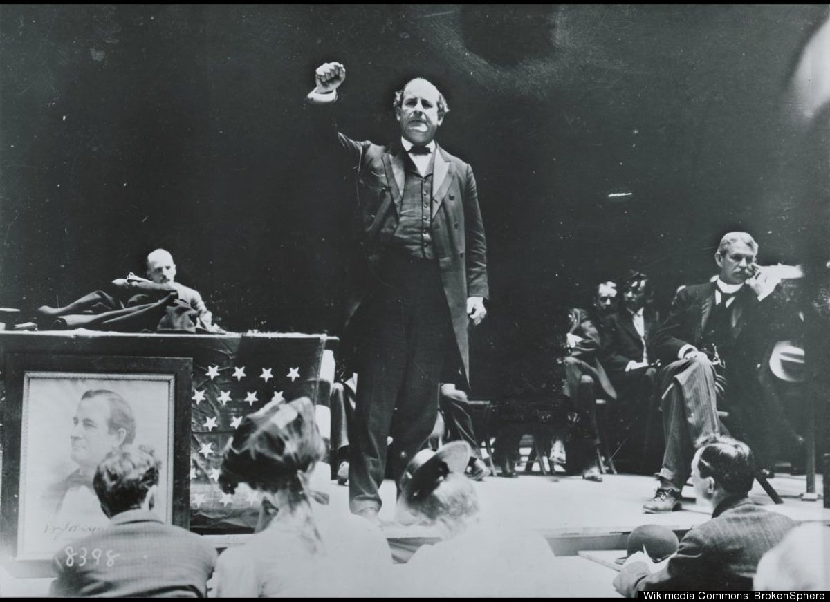 There was certainly no shortage of drama and excitement at the 1896 Democratic Convention in Chicago, when William Jennings B