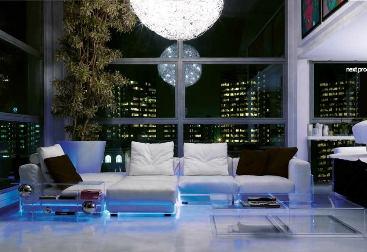 "This couch by <a href=""http://www.colico.com/en/index.htm"" target=""_hplink"">Colico</a> is equipped with LED lights that chang"