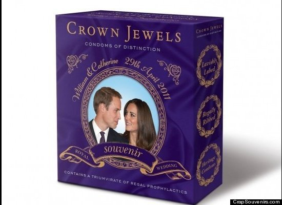 """Travel writer Doug Lansky, the creator of CrapSouvenirs.com, says, """"this special Royal Wedding-themed package of condoms will"""