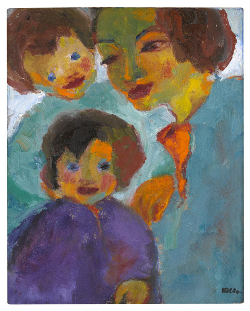 "Emil Nolde                 ""Peter und Hans"", 1949                Oil on canvas                 70 x 56 cm / 27 1/2 x 22"