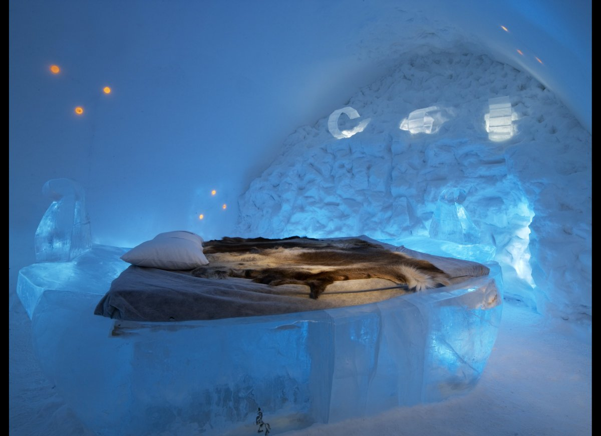 "I have it on good authority (from my sister) that a <a href=""http://www.icehotel.com/uk/ICEHOTEL/"" target=""_hplink"">hotel mad"