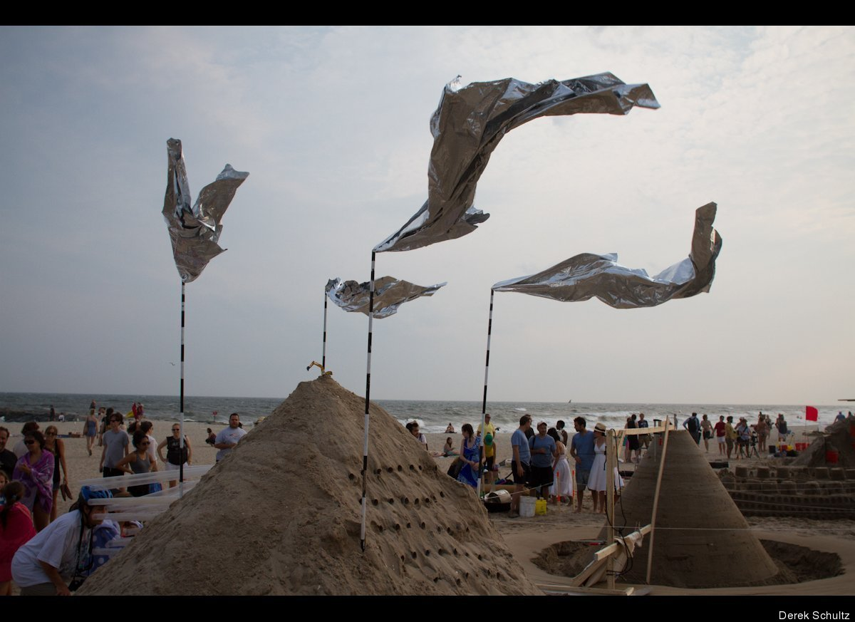 Sandcastle competition at the Rockaways