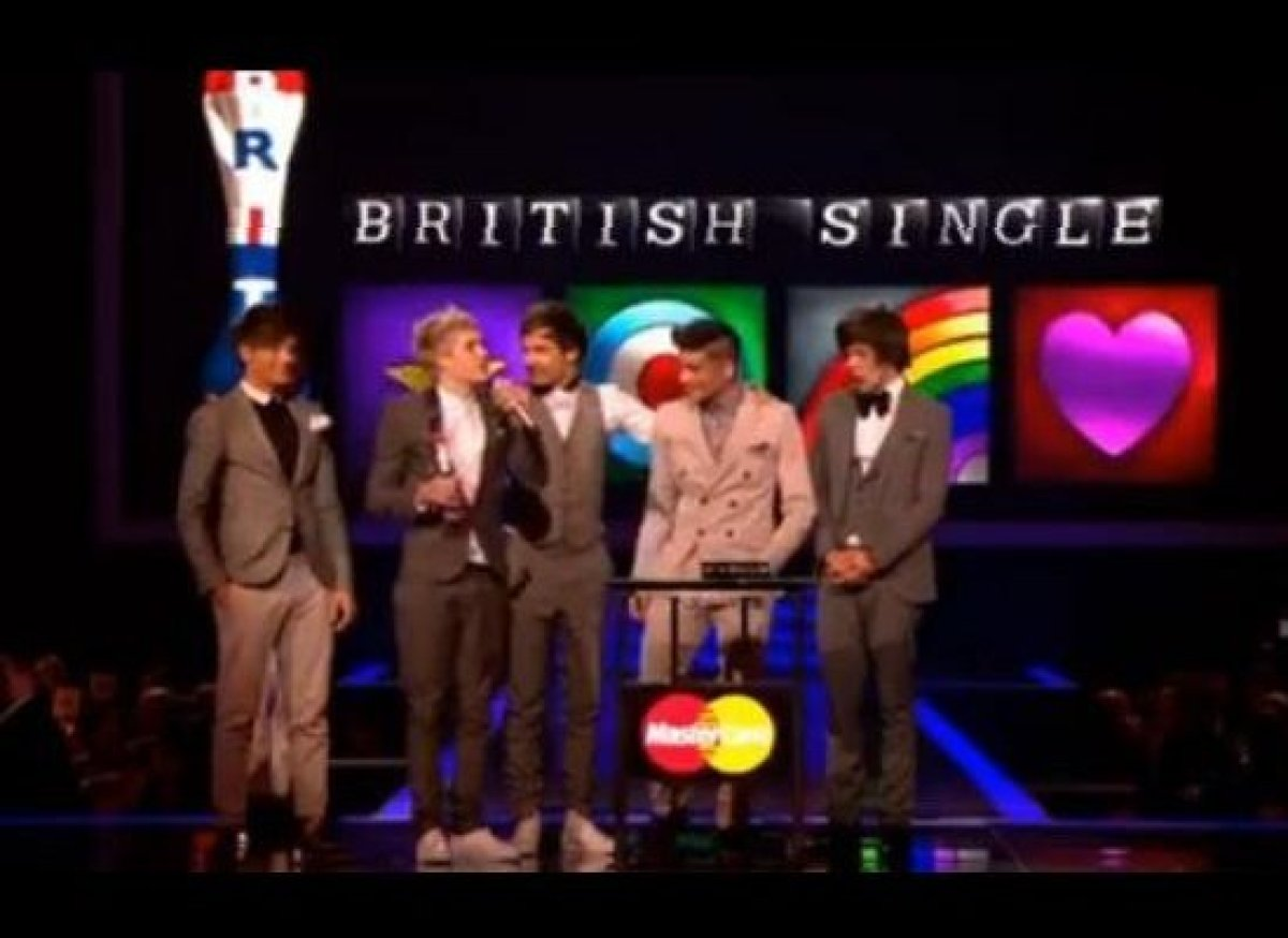 "One Direction won ""Best British Single"" at this year's BRIT Awards for their hit ""What Makes You Beautiful,"" beating powerhou"