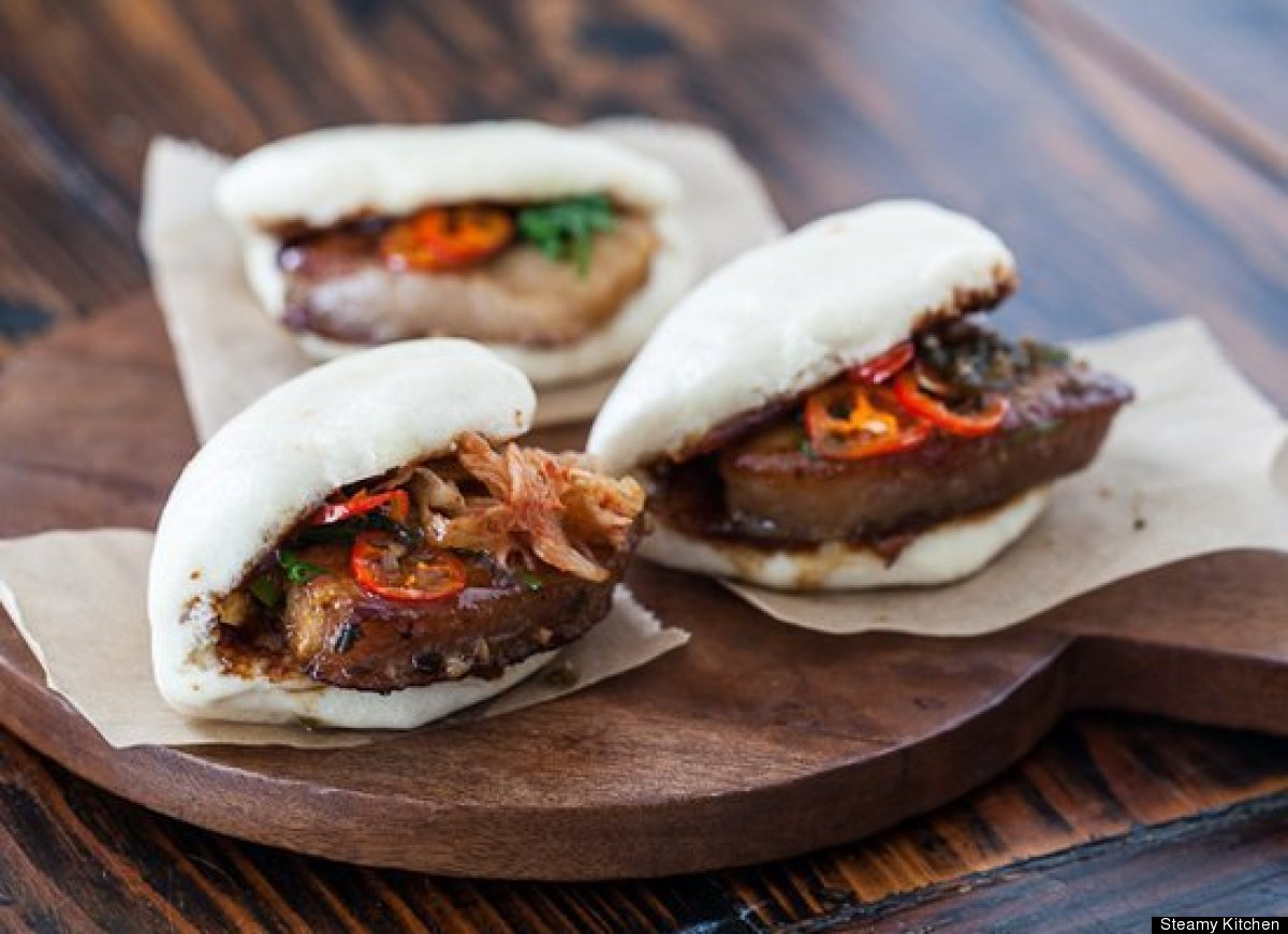 "<strong>Get the <a href=""http://steamykitchen.com/22252-pork-belly-buns-recipe.html"" target=""_hplink"">Pork Belly Buns recipe<"