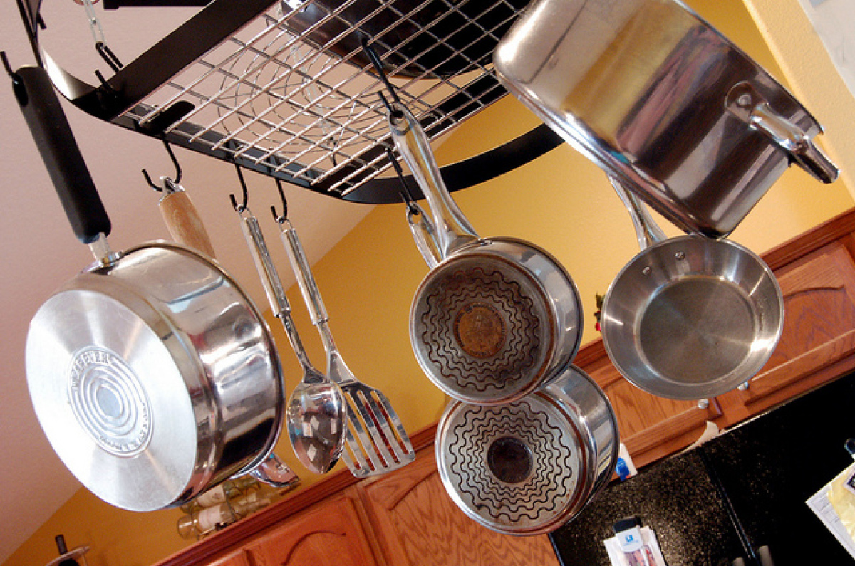 Look up. If you've got some space on your ceiling and you don't have any light fixtures in the way, consider mounting a hangi