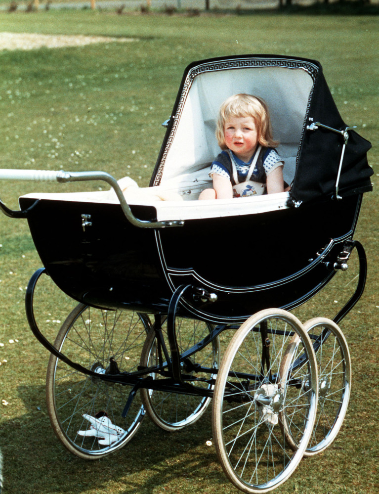 FAMILY PICTURE OF LADY DIANA SPENCER IN HER PRAM AT PARK HOUSE, SANDRINGHAM, NORFOLK.