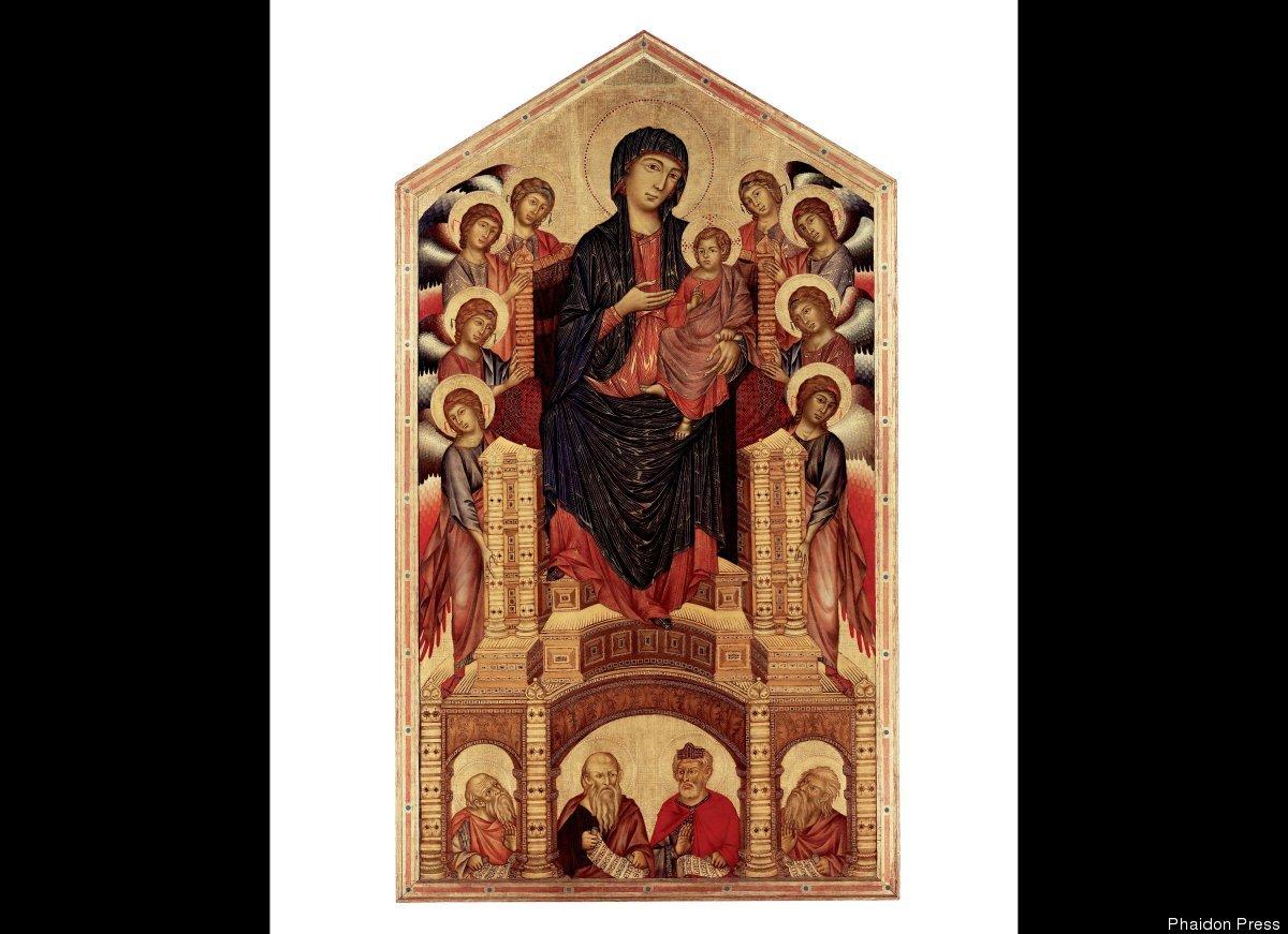 Cimabue, The Santa Trinità Madonna. c1260/80, tempera on panel, 382x223 cm, 151 1/2 x 87 3/4 in., Galleria degli Uffizi, Flor
