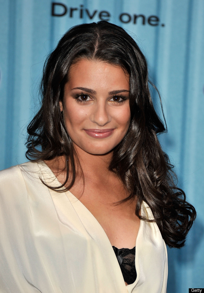 Actress Lea Michele arrives at the American Idol Top 12 Party held at AREA on March 5, 2009 in Los Angeles, California.