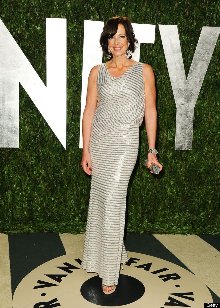 Allison Janney arrives at the 2012 Vanity Fair Oscar Party.
