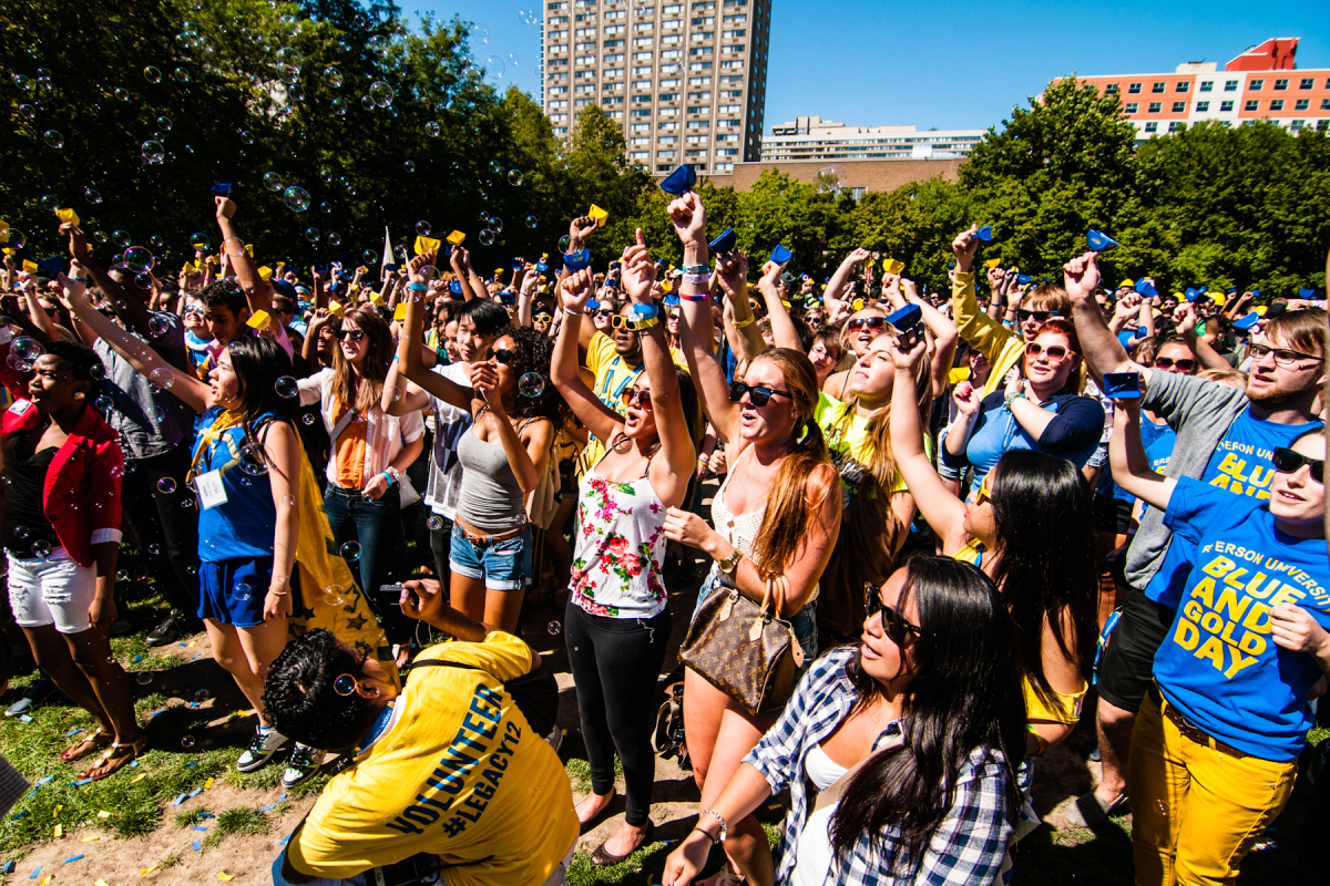 SEAM, a popular Toronto rock band, warms up the crowd of mostly first-year students before they attempt to break the Guinness