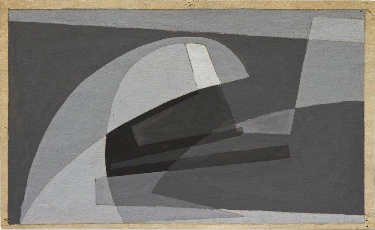 <em>Untitled</em> by Ana Sacerdote, gouache on paper, 10.2 x 16.9 cm, 1954. Courtesy of Ana Sacerdote.