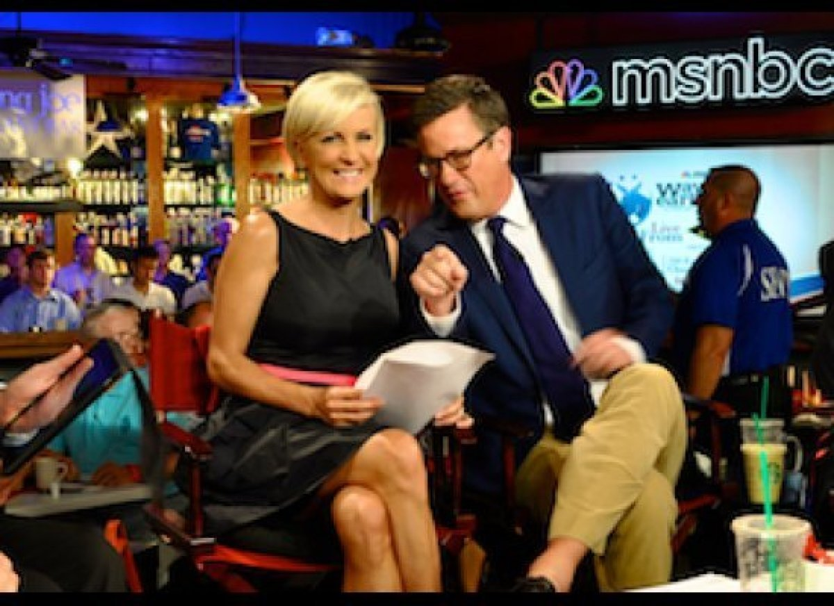 <em>Morning Joe</em> live on air at Howl at the Moon Bar, in Tampa, Fla. covering the Republican National Convention.