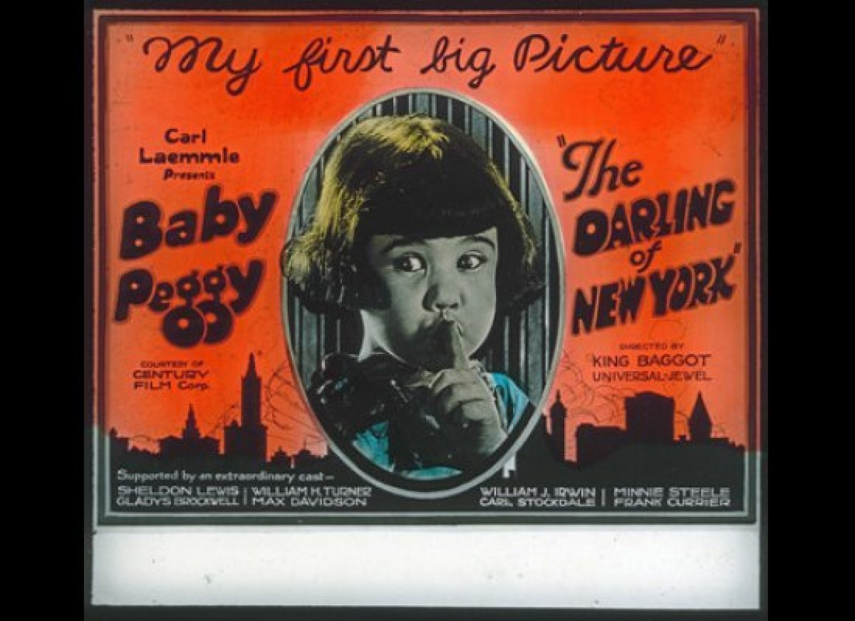 Baby Peggy's first feature was <em>The Darling of New York</em>, from 1923.