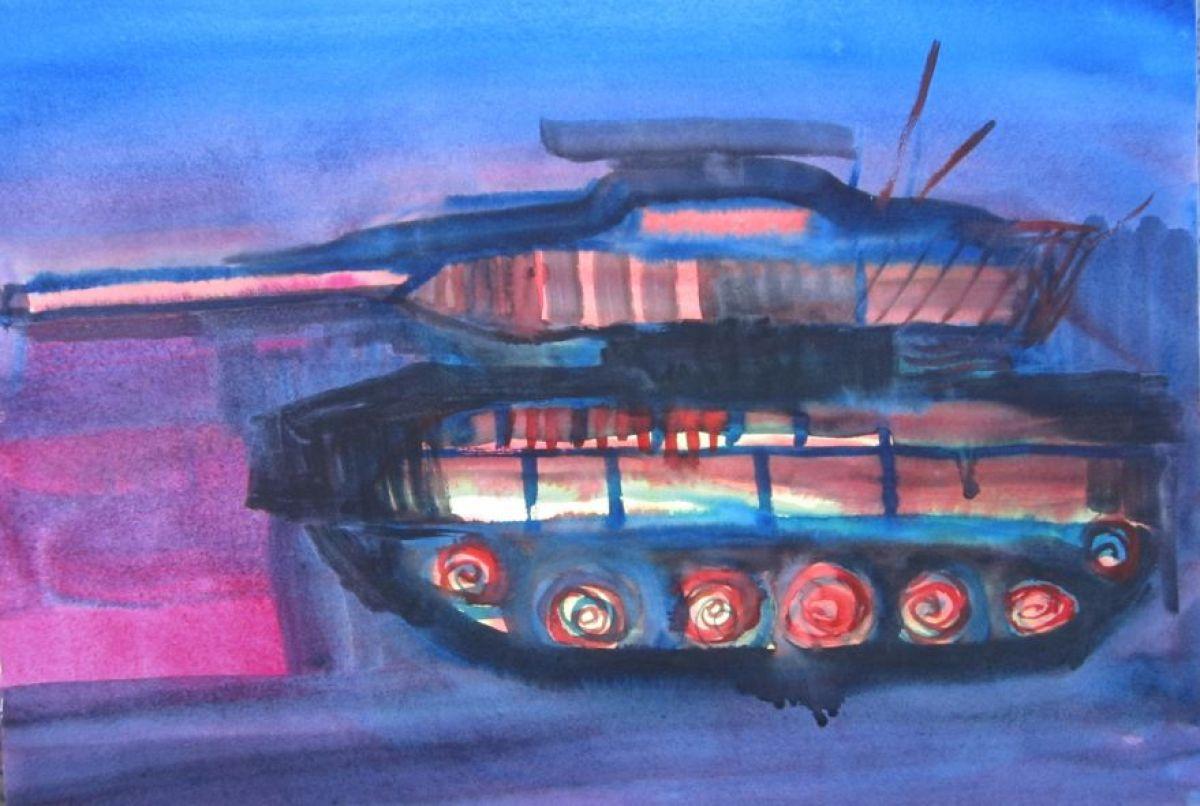 Miriam Cahn, o.t. 28.1.11 Water color