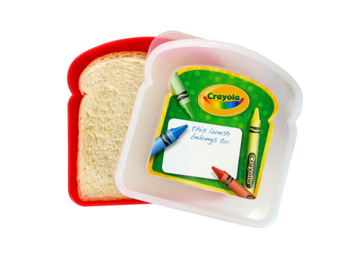 "<strong><a href=""http://www.amazon.com/Crayola-Sandwich-Container-Colors-Vary/dp/B002SGXTPM/"" target=""_hplink"">Buy the Crayol"