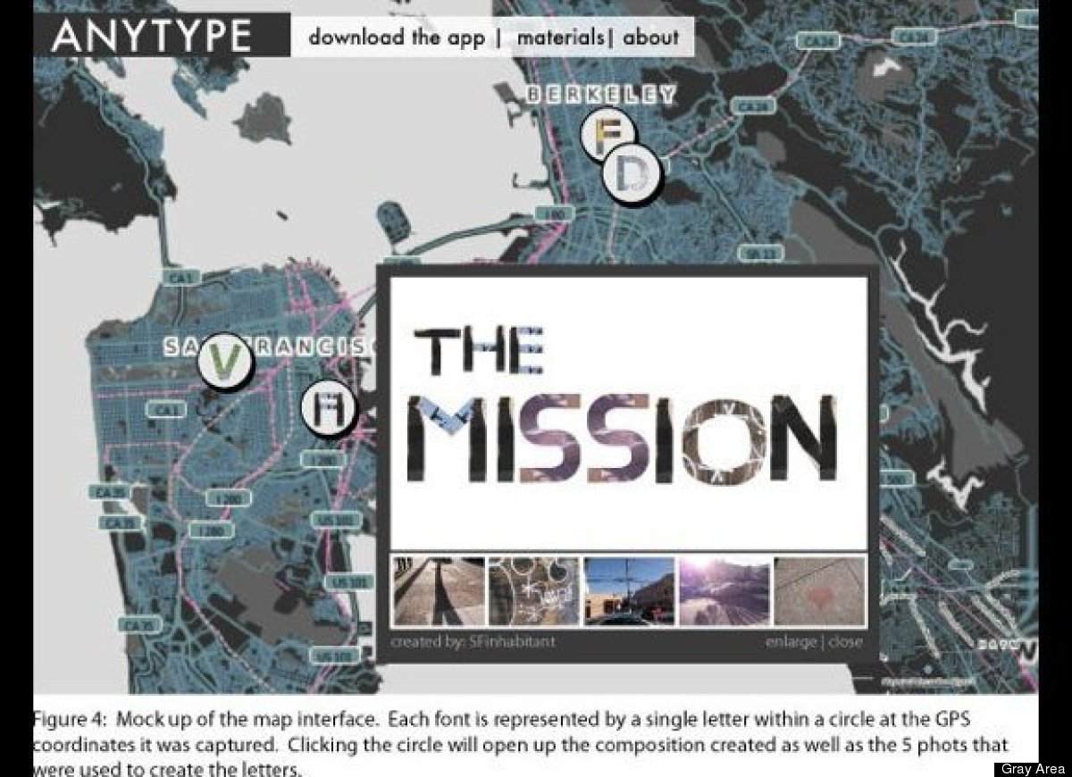 AnyType is a creative mobile application that lets people transform elements and objects in the physical world into novel dig