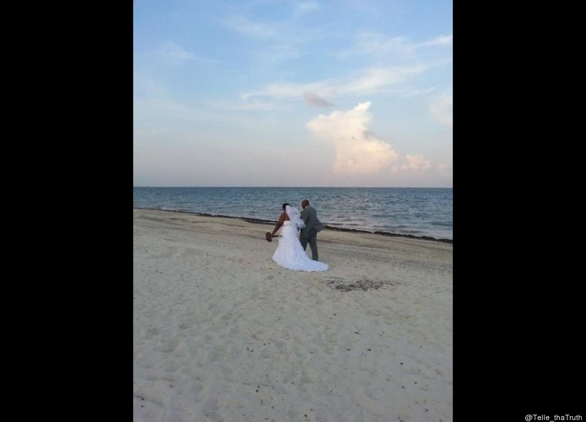 @Telle_thaTruth: @HuffPostWedding Mr. And Mrs. Le'Nell and Amber Carter. Married Sept 2nd 2012 in Cancun Mexico. pic.twitter.