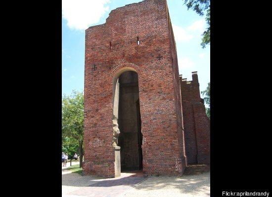 "<a href=""http://historicjamestowne.org/jamestown_church.php"" target=""_hplink"">Originally built in 1607</a>, the church is now"