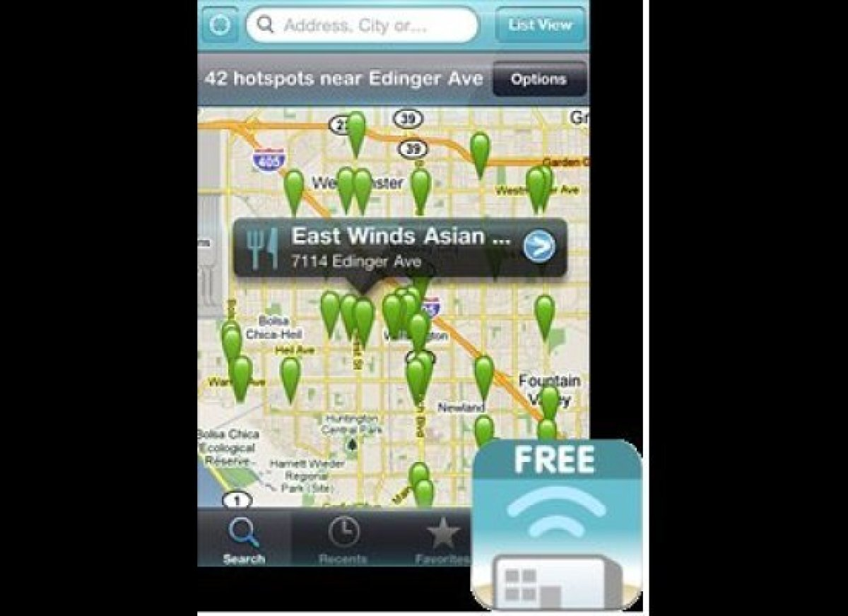 <strong>Free Wi-Fi Finder</strong>  When you're desperate for Internet access, Free Wi-Fi Finder points you to the nearest