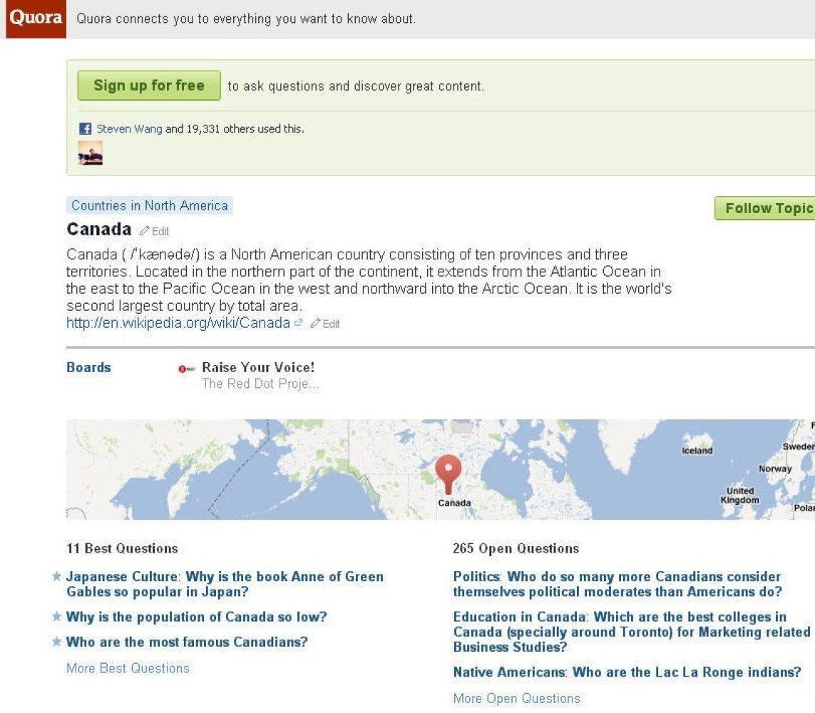 "Price: Free  Website: <a href=""http://www.quora.com/"" target=""_hplink"">http://www.quora.com/ </a> Platform: Android & iPh"