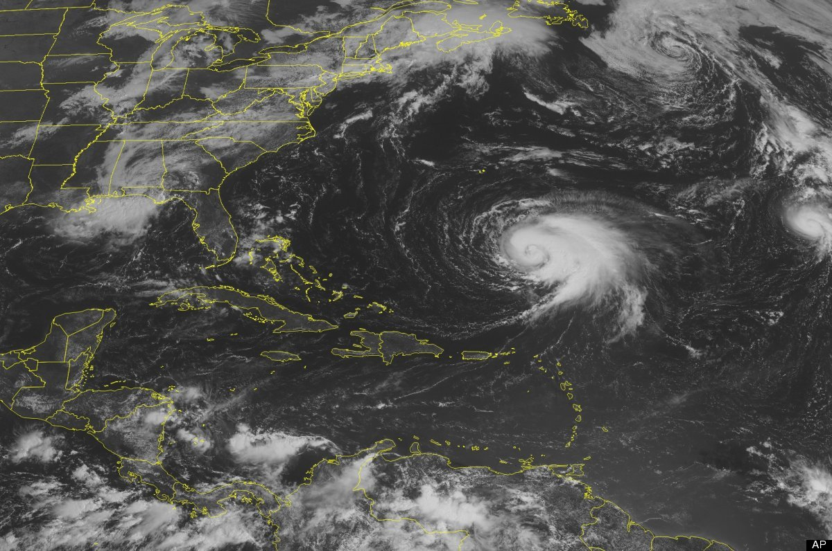 This NOAA satellite image taken Wednesday, September 5, 2012 at 10:45 AM EDT shows Hurricane Leslie south of Bermuda. In the