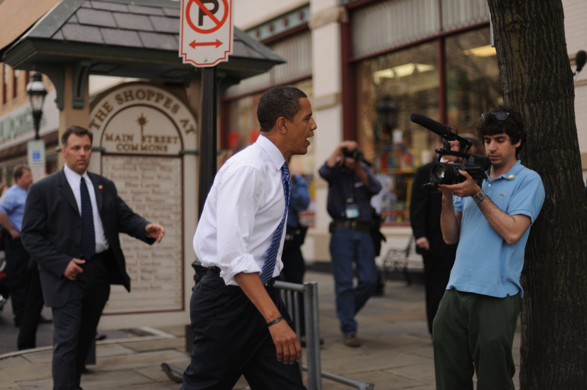 A day filming Senator Obama in Allentown. This is how I remember any typical campaign day, especially me at my pre-campaign w