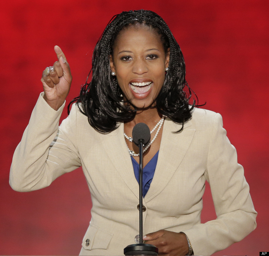 Mayor of Saratoga Springs, Utah, Mia Love addressed attendees at the Republican National Convention on Tuesday, Aug. 28. If s