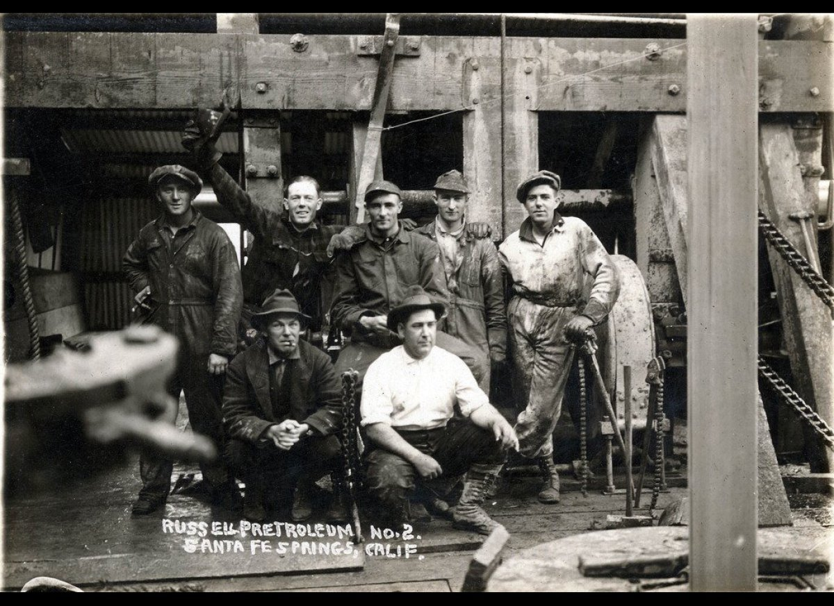 Crew of Russell Petroleum No. 2 well, c. 1920.