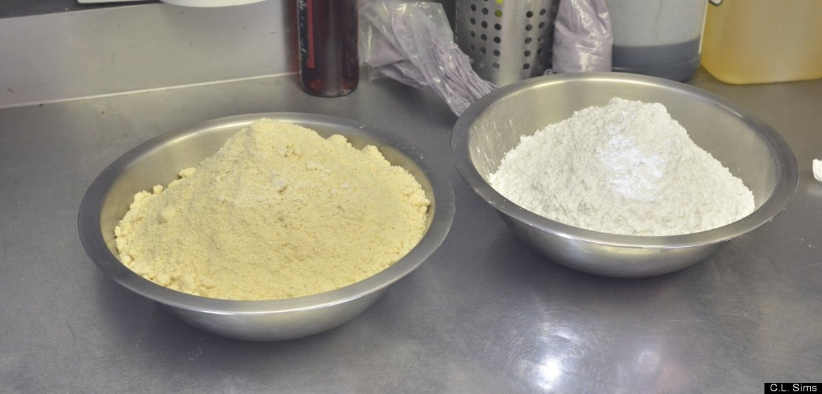 Prepping the dry ingredients