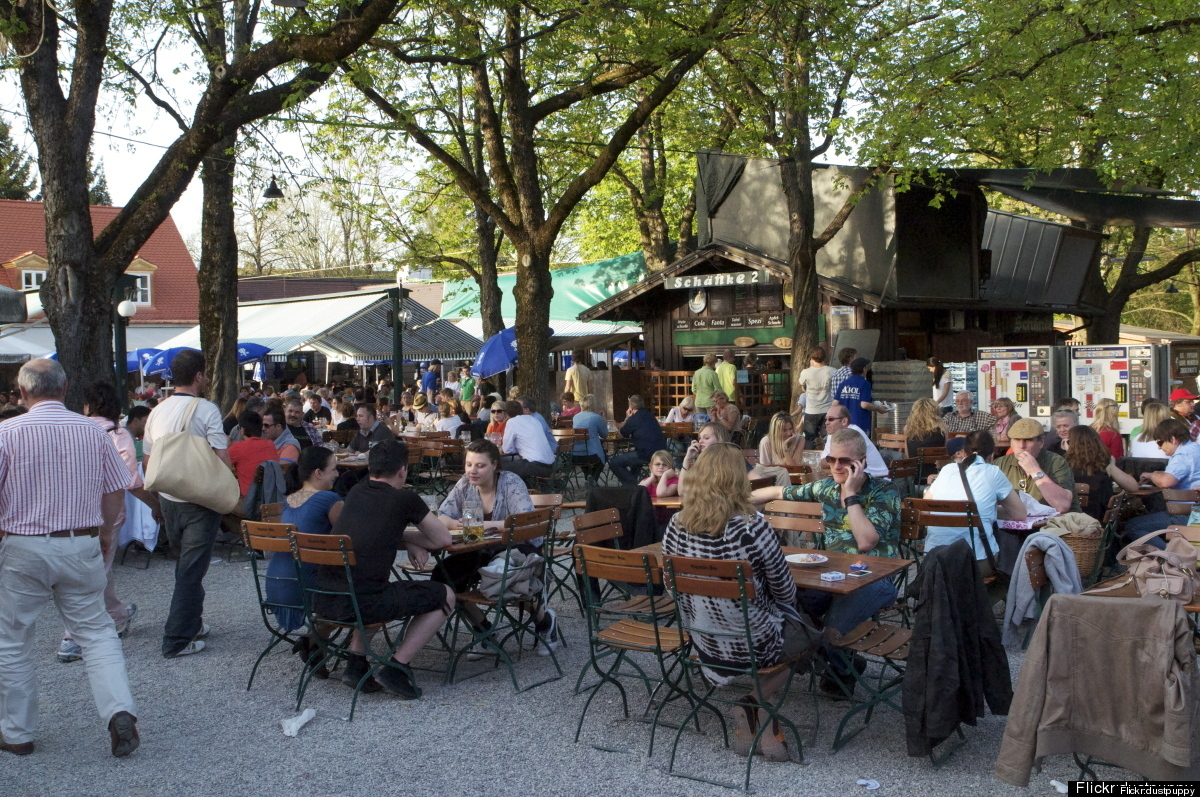 The historic – and family friendly – Hirschgarten is Germany's largest biergarten, with benches seating up to 8,000 revelers