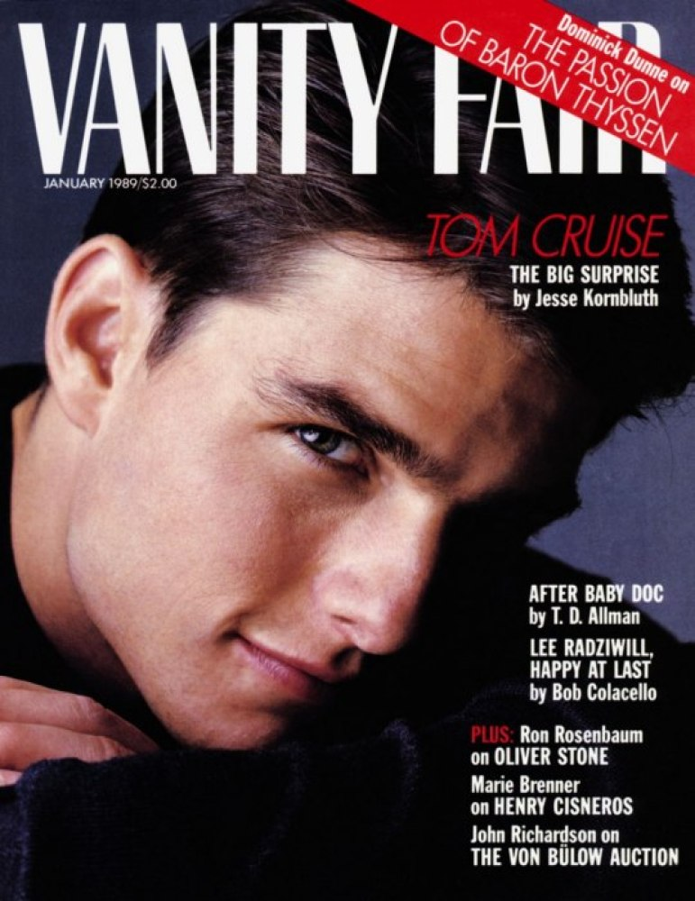 Tom Cruise (<em>Vanity Fair</em>, 1989)