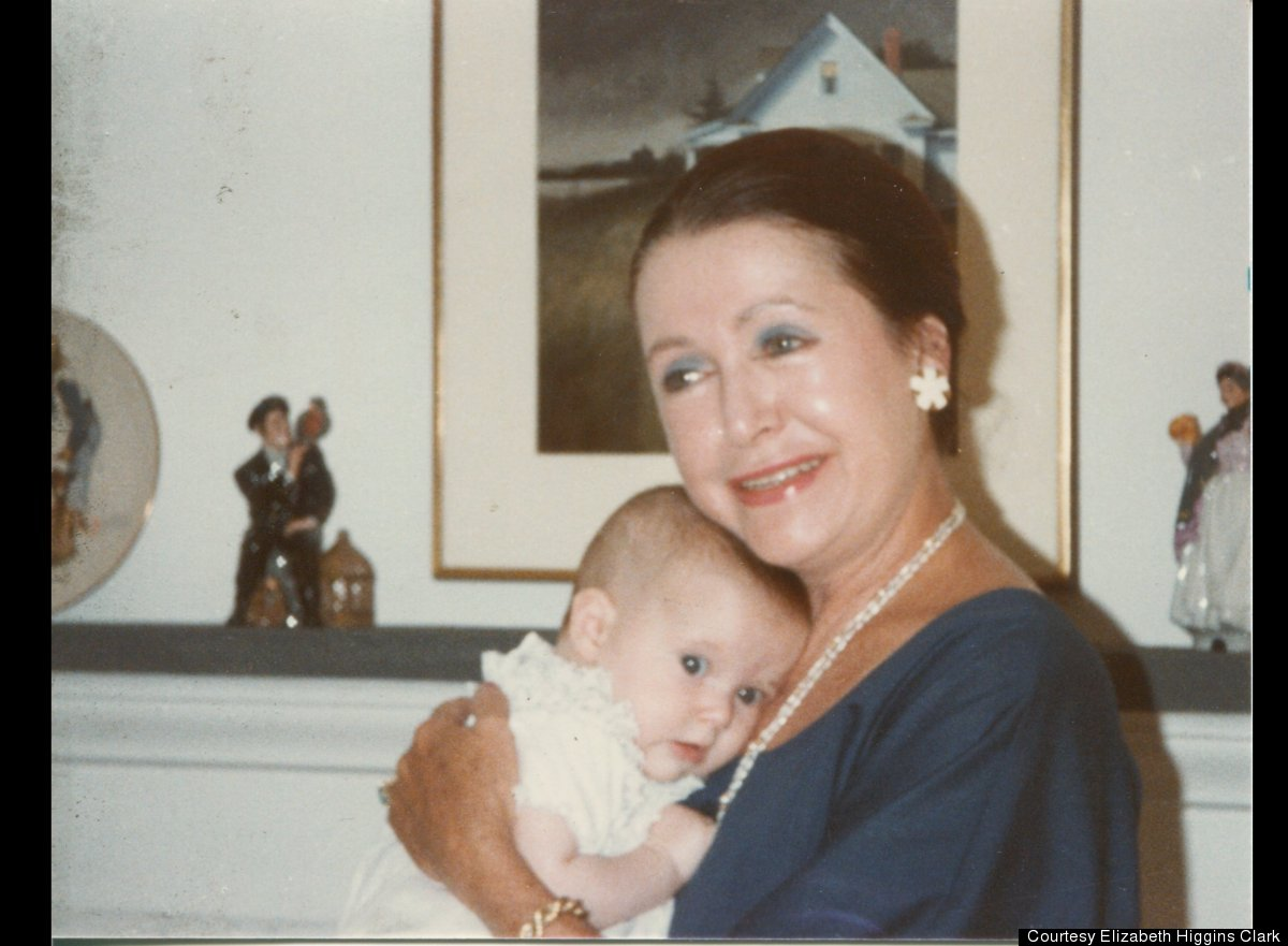 Elizabeth Higgins Clark in the arms of her paternal grandmother, author Mary Higgins Clark, on Cape Cod during the summer of