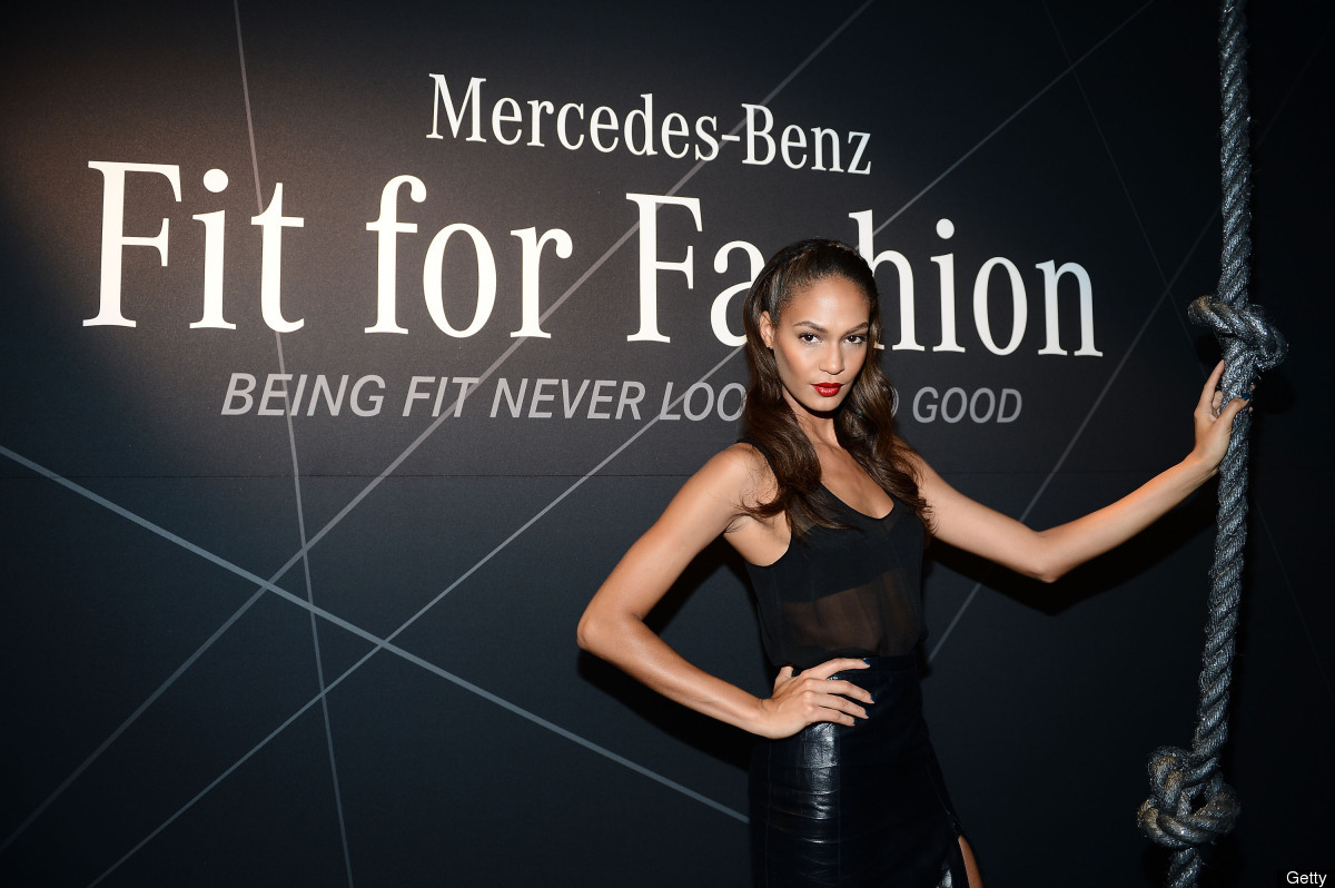 NEW YORK, NY - SEPTEMBER 07:  Model Joan Smalls attends the Mercedes-Benz Star Lounge during Mercedes-Benz Fashion Week Sprin