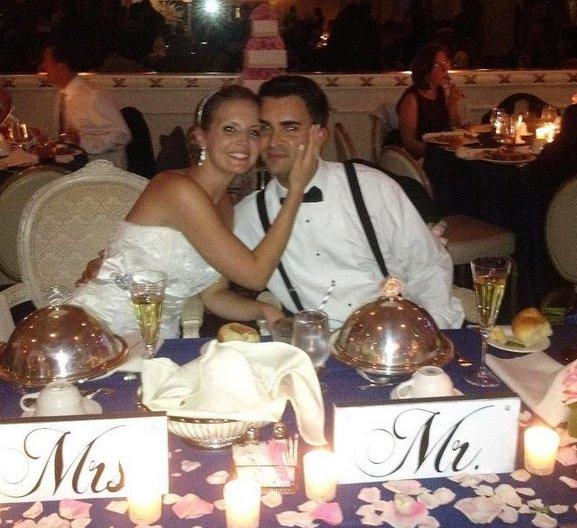 Craig and TaraLynn's Sweetheart table 09.09.2012