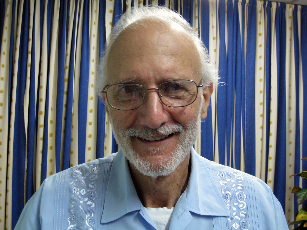 In this Nov. 27, 2012 file photo provided by James L. Berenthal, shows jailed American Alan Gross poses for a photo during a