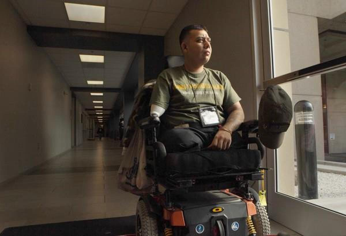 On Oct. 23, 2010, Marine Cpl. Juan Dominguez, 28, lost both legs and his right arm in an explosion while serving in Afghanist