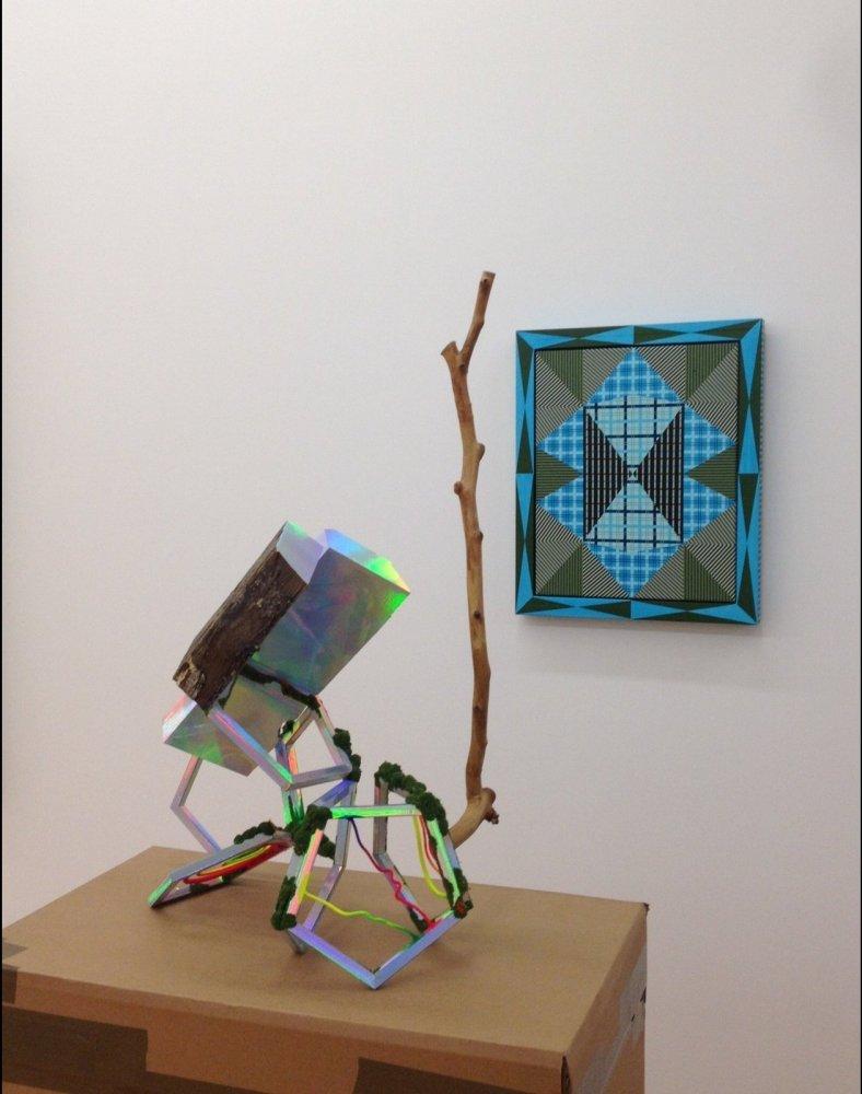 David Shaw's <em>Dark Materials</em> (2011), wood, steel, holographic laminate, paint, epoxy, flocking, 31 x 22 x 13.5 inches