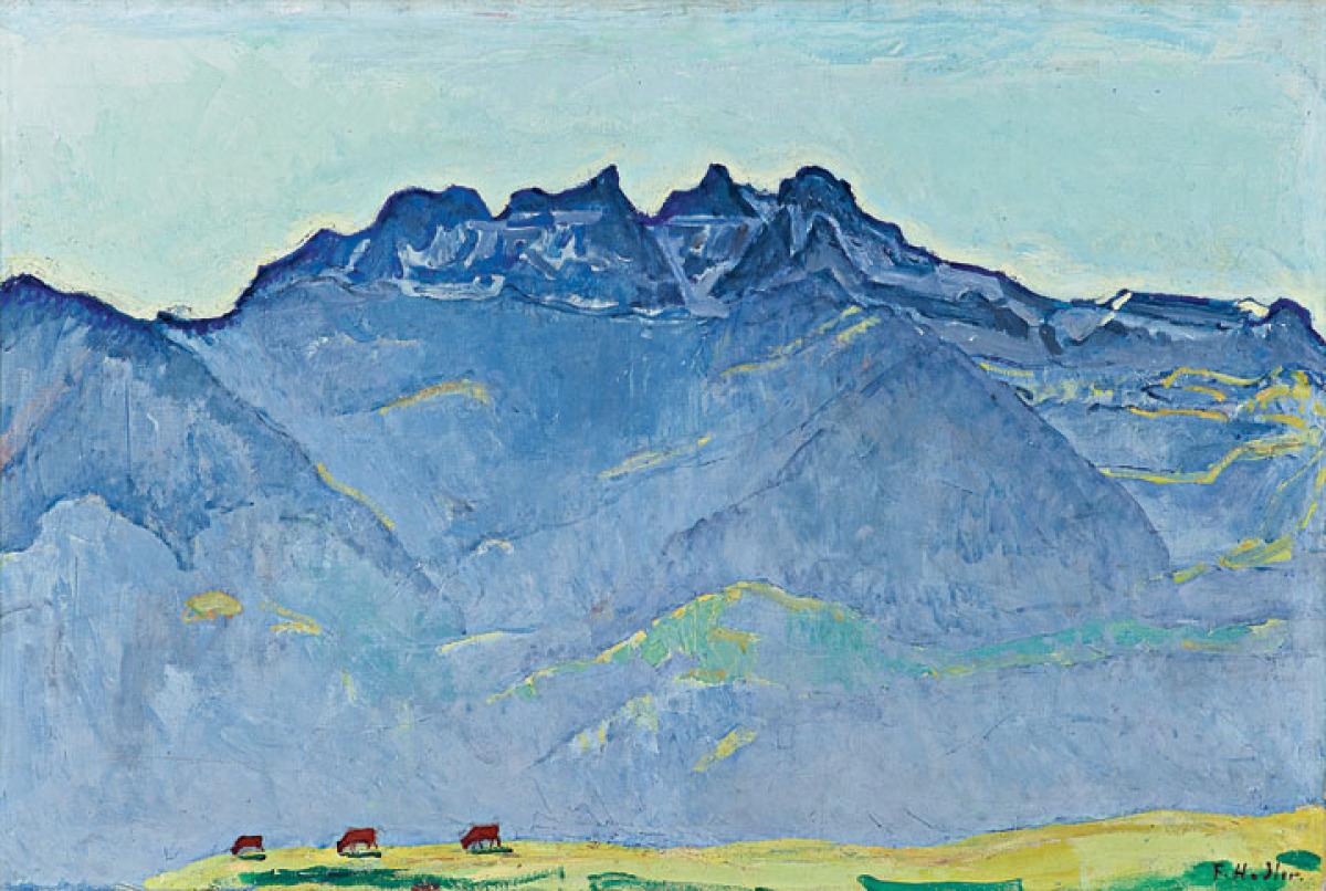 The Dents du Midi from Champéry, 1916 Oil on canvas 73.5 x 110 cm (28
