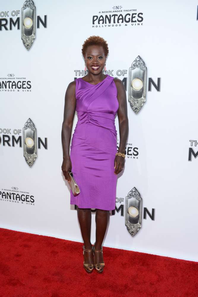 HOLLYWOOD, CA - SEPTEMBER 12: Viola Davis attends 'The Book Of Mormon' Los Angeles Opening Night at the Pantages Theatre on S