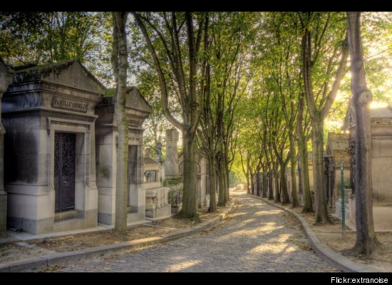 "At <a href=""http://www.pere-lachaise.com/perelachaise.php?lang=en"" target=""_hplink"">Père Lachaise</a>, visitors pay homage at"