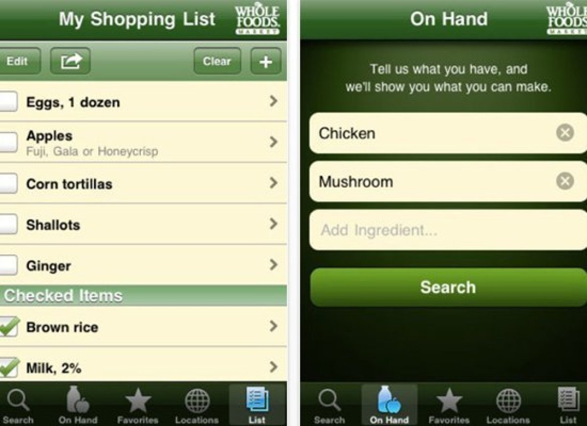 Whole Foods is not only a grocery store where you can find high-end food items, but they also have an intuitive cooking app p