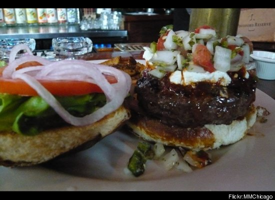 """<a href=""""http://www.kumascorner.com/about/"""" target=""""_hplink"""">Kuma's</a> is a burger fan's paradise--and you can tell by the s"""