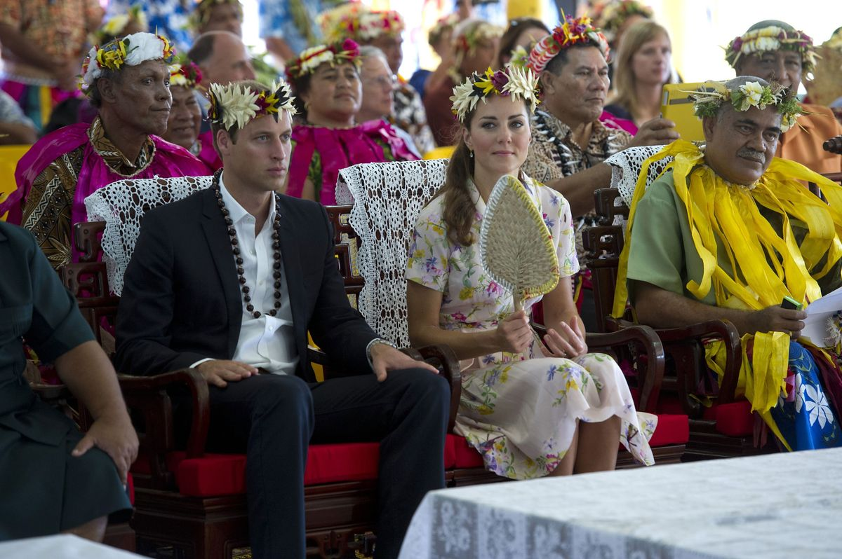 The Duke and Duchess of Cambridge bid farewell to Tuvalu, Soloman Islands, at the end of a nine-day royal tour of the Far Eas
