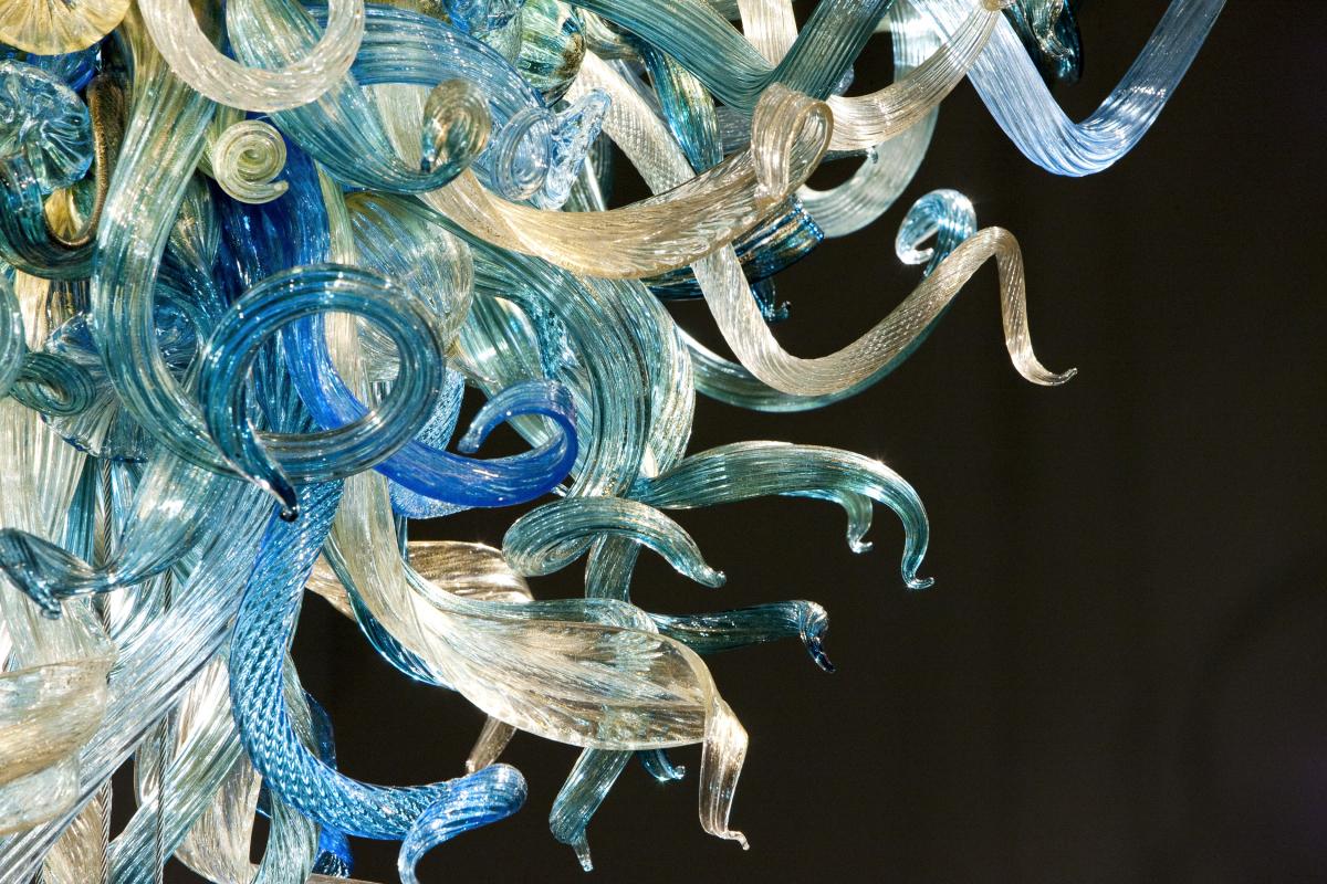 """Blue Ridge Chandelier (detail), 2012, 216 x 160 x 84"" Photo by Nathaniel Willson"""
