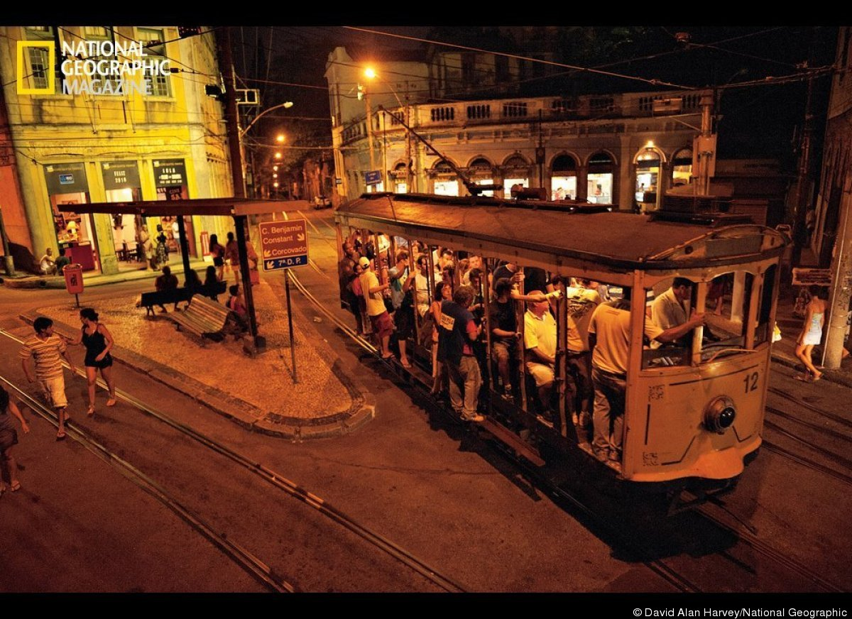 A trolley now idled for repairs normally services the historic area of Santa Teresa. (David Alan Harvey/From The October Edit
