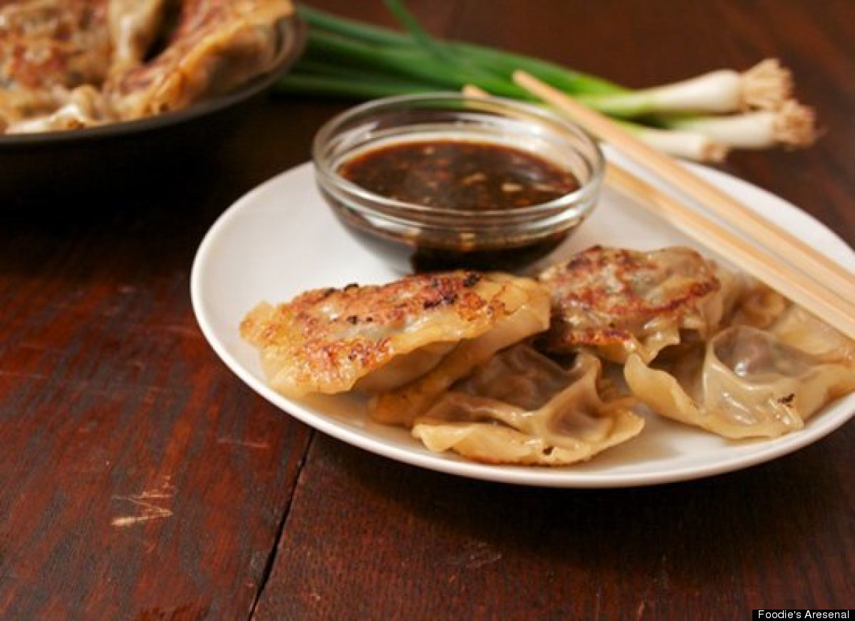 "<strong>Get the <a href=""http://foodiesarsenal.com/mushroom-potstickers-recipe/"" target=""_hplink"">Mushroom Potstickers recipe"